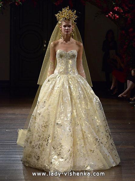 Атласні весільні сукні 2016 фото - Naeem Khan