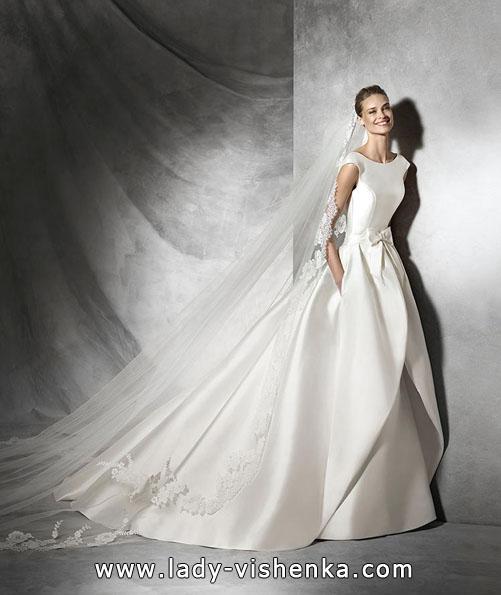 Красиві атласні весільні сукні 2016 - Pronovias