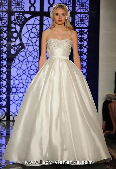 Атласні весільні сукні 2016 - Reem Acra