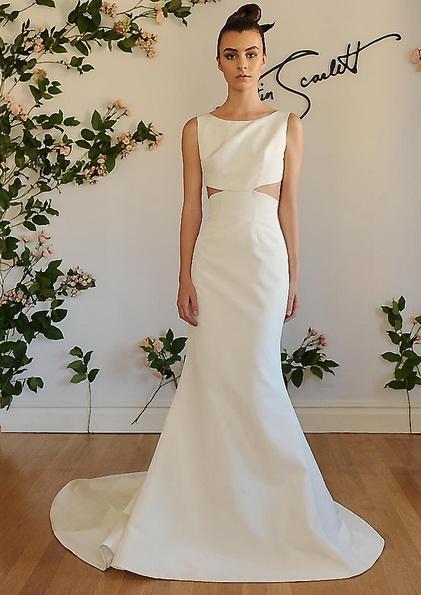 Атласна весільна сукня зі шлейфом Austin Scarlet 2016