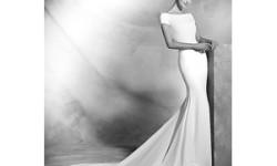 Весільна сукня зі шлейфом атласне