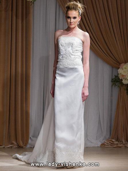 Весільна сукня прямого силуету 2016 - Jean-Ralph Thurin