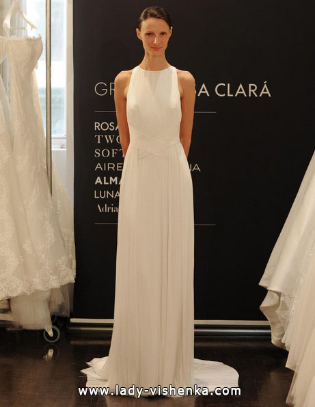 Прямі весільні сукні 2016 - Rosa Clará