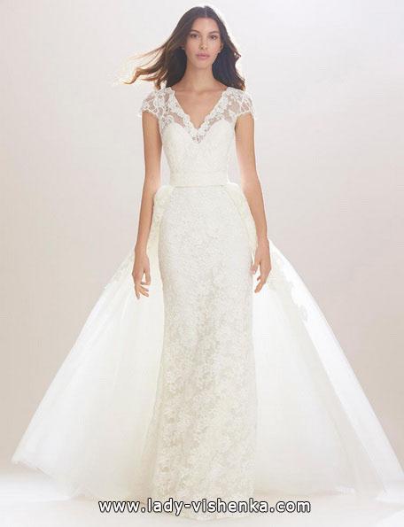 Пряме весільну сукню 2016 - Carolina Herrera