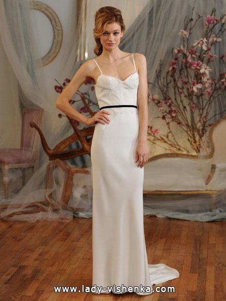 Пряме весільну сукню фото 2016 - Elizabeth Fillmore