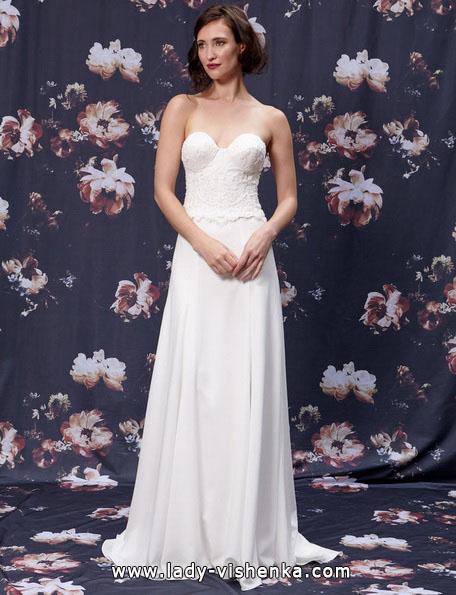 Весільні сукні прямого покрою 2016