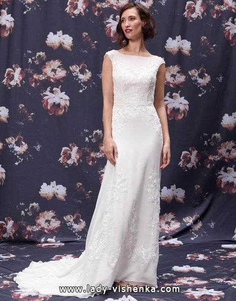 Пряма довга весільна сукня 2016 -
