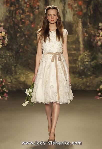 Весільне плаття коротке мереживне Jenny Packham