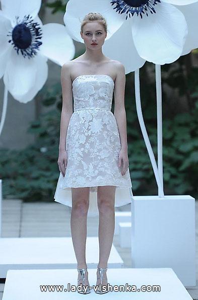 Весільне плаття коротке мереживне 2016 - Lela Rose