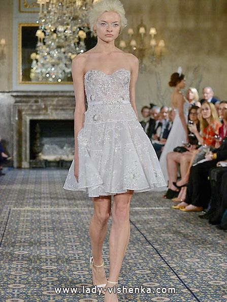 Весільне плаття коротке мереживне 2016 - Mira Zwillinger