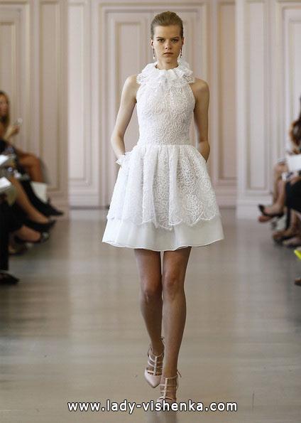 Короткі мереживні весільні сукні 2016 - Oscar de la Renta