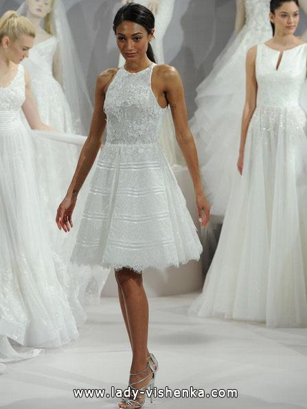Весільне плаття коротке мереживне 2016 - Tony Ward