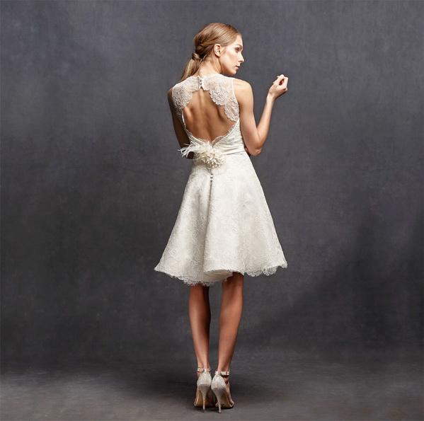 Спина короткого мереживного весільного плаття 2016 - Isabelle Armstrong