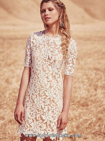 Весільне плаття коротке мереживне 2016 - Free People