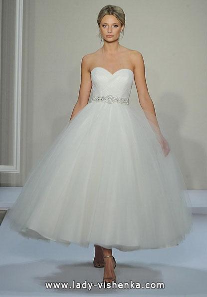 Короткі пишні весільні сукні 2016 - Dennis Basso
