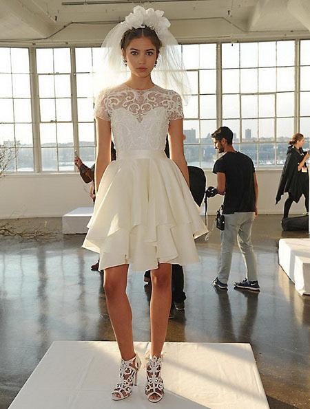 Короткі пишні весільні сукні 2016 - Marchesa