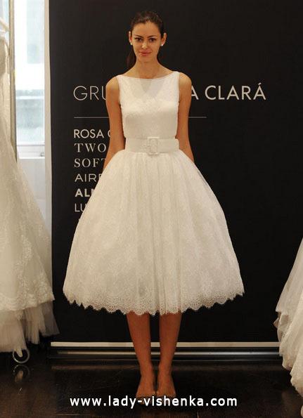 Короткі пишні весільні сукні 2016 - Rosa Clará