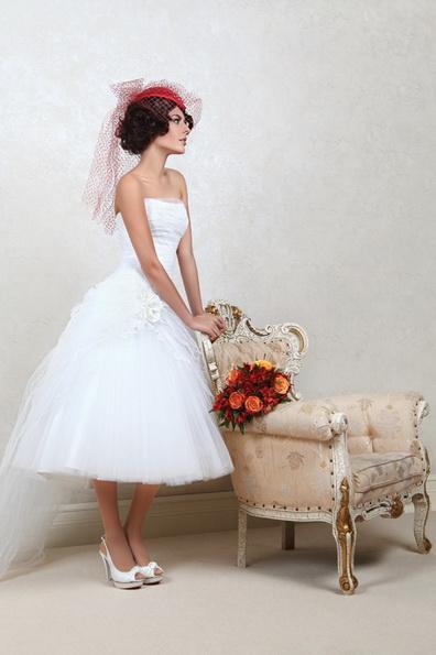 Коротке весільне плаття з пишною спідницею 2016 - Tatiana Kaplun
