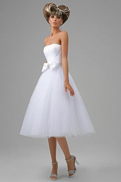 Коротке весільне плаття з пишною спідницею 2016 фото - Tatiana Kaplun