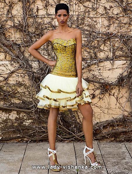 Коротке весільне плаття з пишною спідницею 2016 - Jordi Dalmau