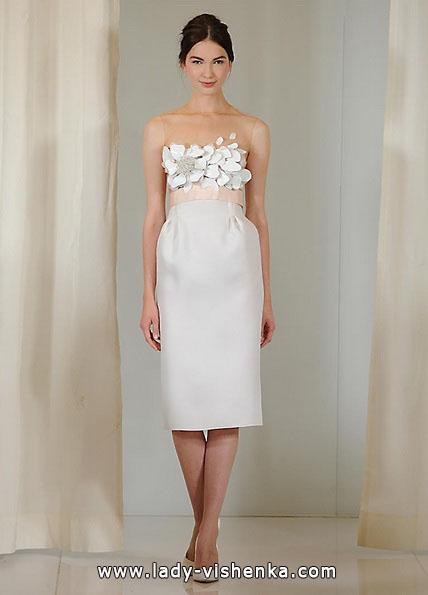 Коротке весільне плаття з 3D принтом - Angel Sanchez