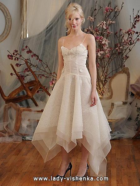 Весільна сукня довжиною 3/4 - Elizabeth Fillmore