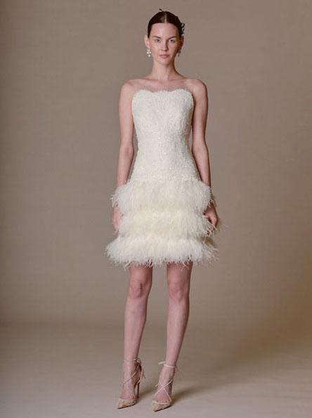 Весільну сукню з короткою спідницею 2016 - Marchesa