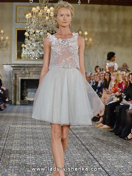Короткий прозоре весільну сукню 2016 - Mira Zwillinger
