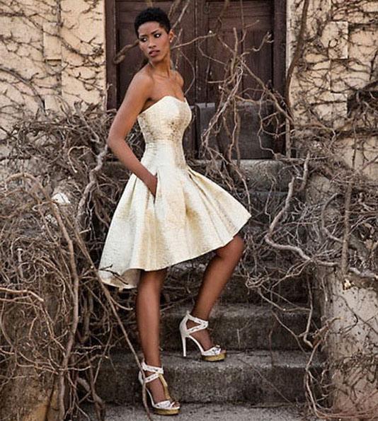 Короткі весільні сукні без бретелей 2016 - Jordi-Dalmau