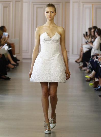 Короткі весільні сукні 2016 - Oscar de la Renta