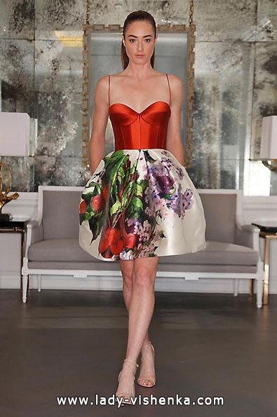 Червоне коротке весільне плаття 2016 - Romona Keveza