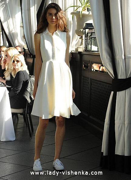 Просте коротке весільне плаття 2016 - Sarah Seven