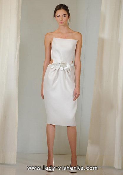 Коротке біле весільне плаття 2016 - Angel Sanchez