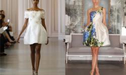 Короткі весільні сукні 2016