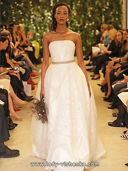 Просте весільну сукню фото 2016 - Carolina Herrera