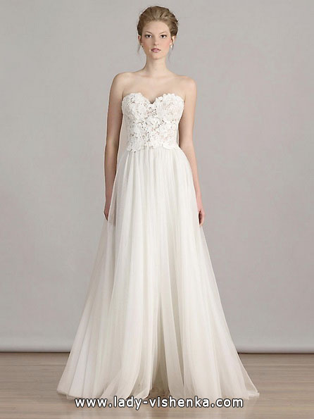 Просте біле весільне плаття - Liancarlo