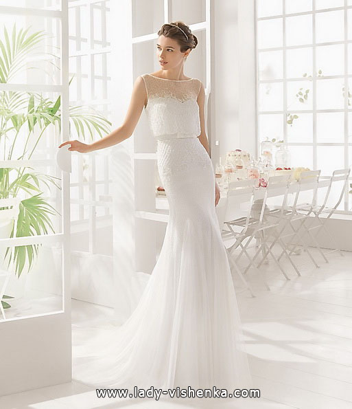 Просте весільну сукню 2016 - Aire Barcelona