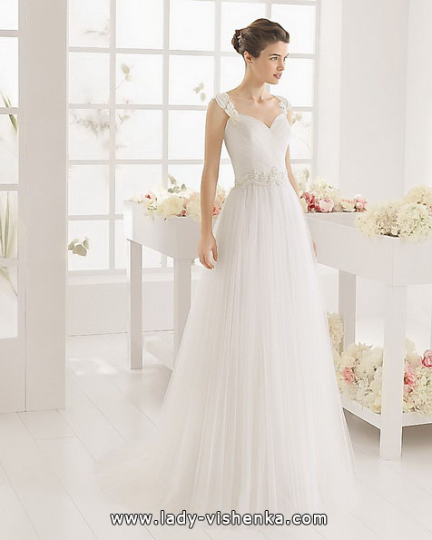 Просте весільну сукню фото - Aire Barcelona