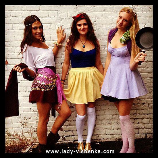 Простий костюм Білосніжки на Хеллоуїн