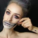 Страшний макіяж на Хеллоуїн. Фото