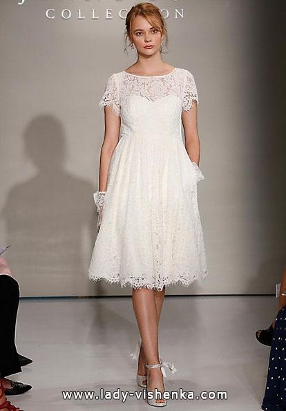 Весільні сукні з закритими плечима 2016 - Jenny Yoo