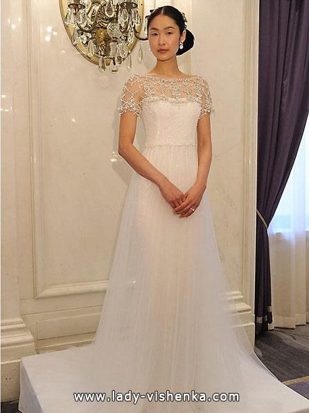 Весільні сукні з закритими плечима 2016 - Marchesa