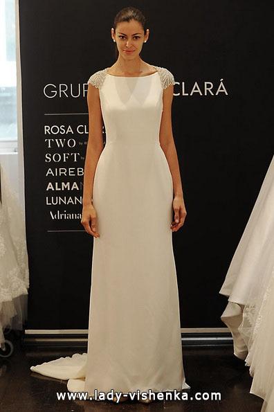 Весільні сукні з закритими плечима 2016 - Rosa Clará