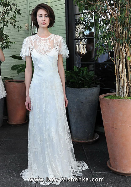 Весільні сукні з закритими плечима 2016 - Sarah Seven