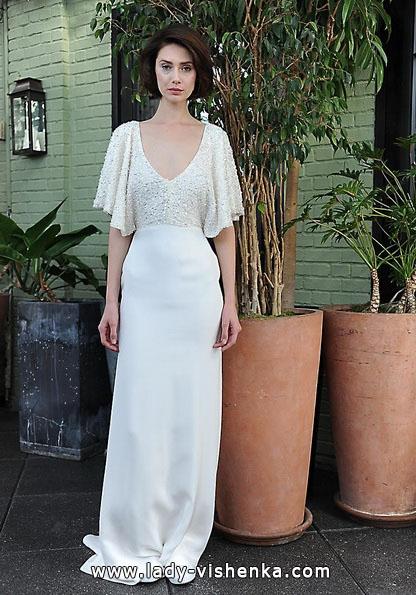 Весільні сукні з закритими плечима фото - Sarah Seven