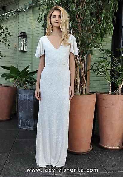 Пряме весільну сукню з закритими плечима 2016 - Sarah Seven