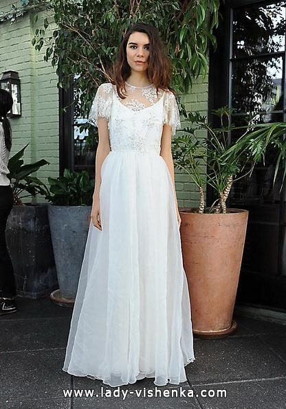 Весільну сукню Ретро з закритими плечима 2016 - Sarah Seven