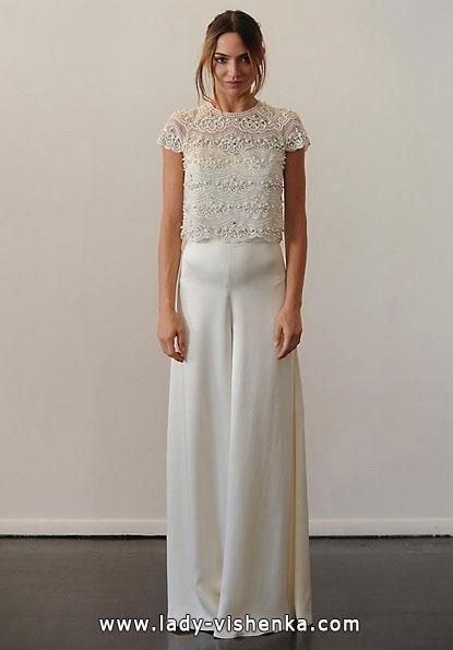Весільні сукні з закритими плечима 2016 - Temperley