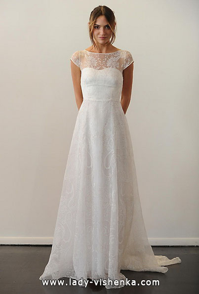 Весільні сукні з закритими плечима фото - Temperley