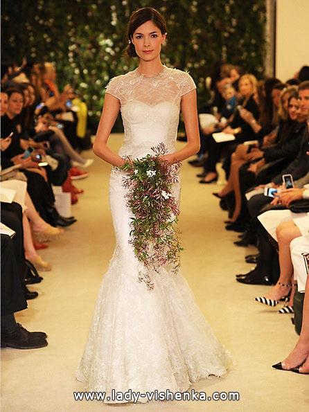 Весільні сукні з закритими плечима 2016 - Carolina Herrera